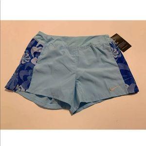 NWT NIKE Dry Running Dri Fit Girls Shorts Blue